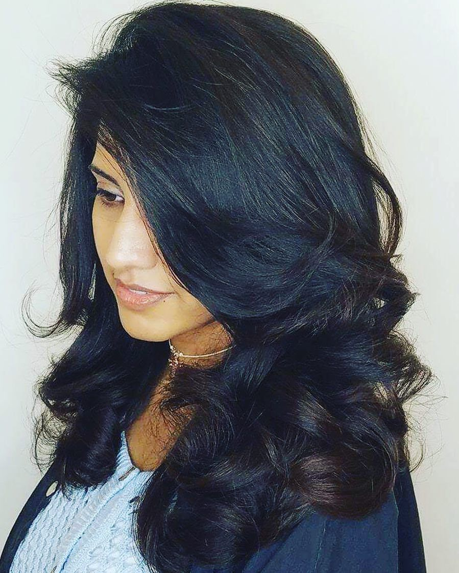 big bouncy hair #blowdry #blowout #hair #haircut #hairstyle