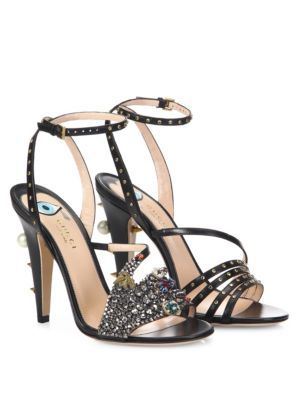 ce5fff68a GUCCI Wangy Crystal-Encrusted Leather Sandals.  gucci  shoes  sandals