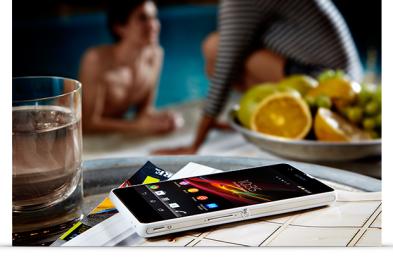 Sony's newest waterproof & dustproof Mobile, Sony Xperia ZR Gallery