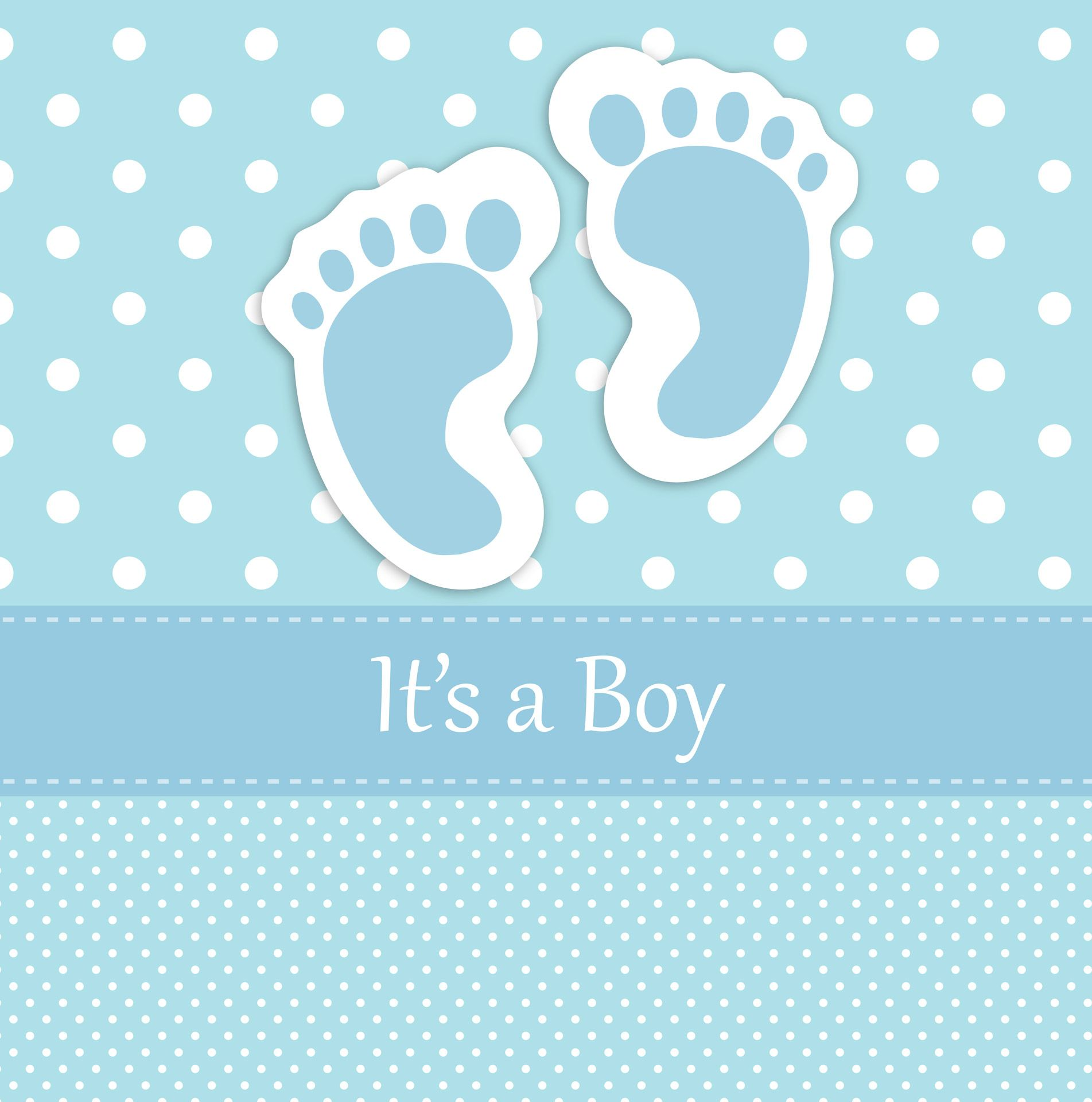 baby boy announcements free templates