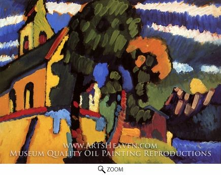 Painting Reproduction of Village Church, Wassily Kandinsky