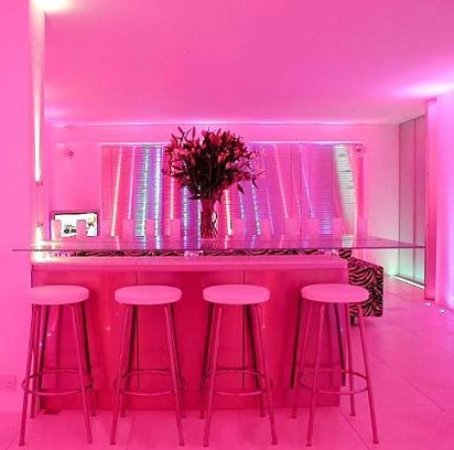 A Room Lit Up By Pink Led Lighting Awesome