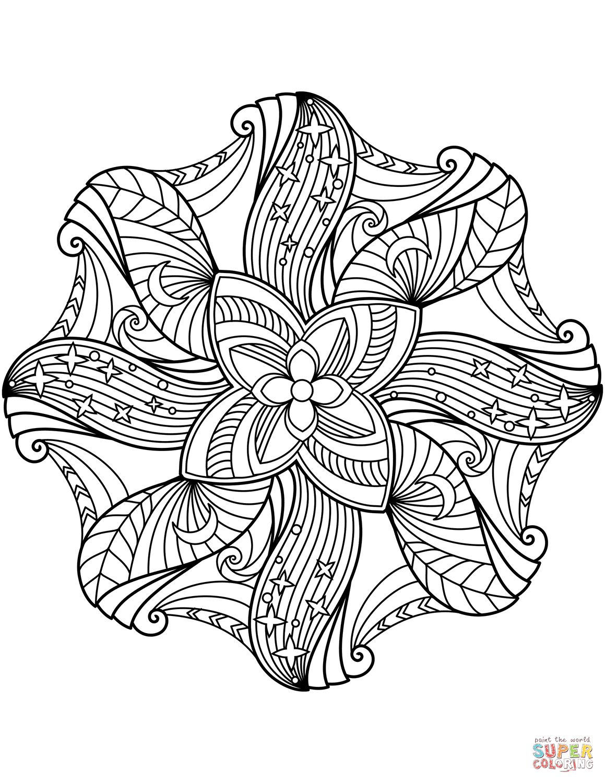 Flower Mandala Super Coloring Mandala Coloring Mandala Coloring Pages Coloring Pages [ 1500 x 1159 Pixel ]