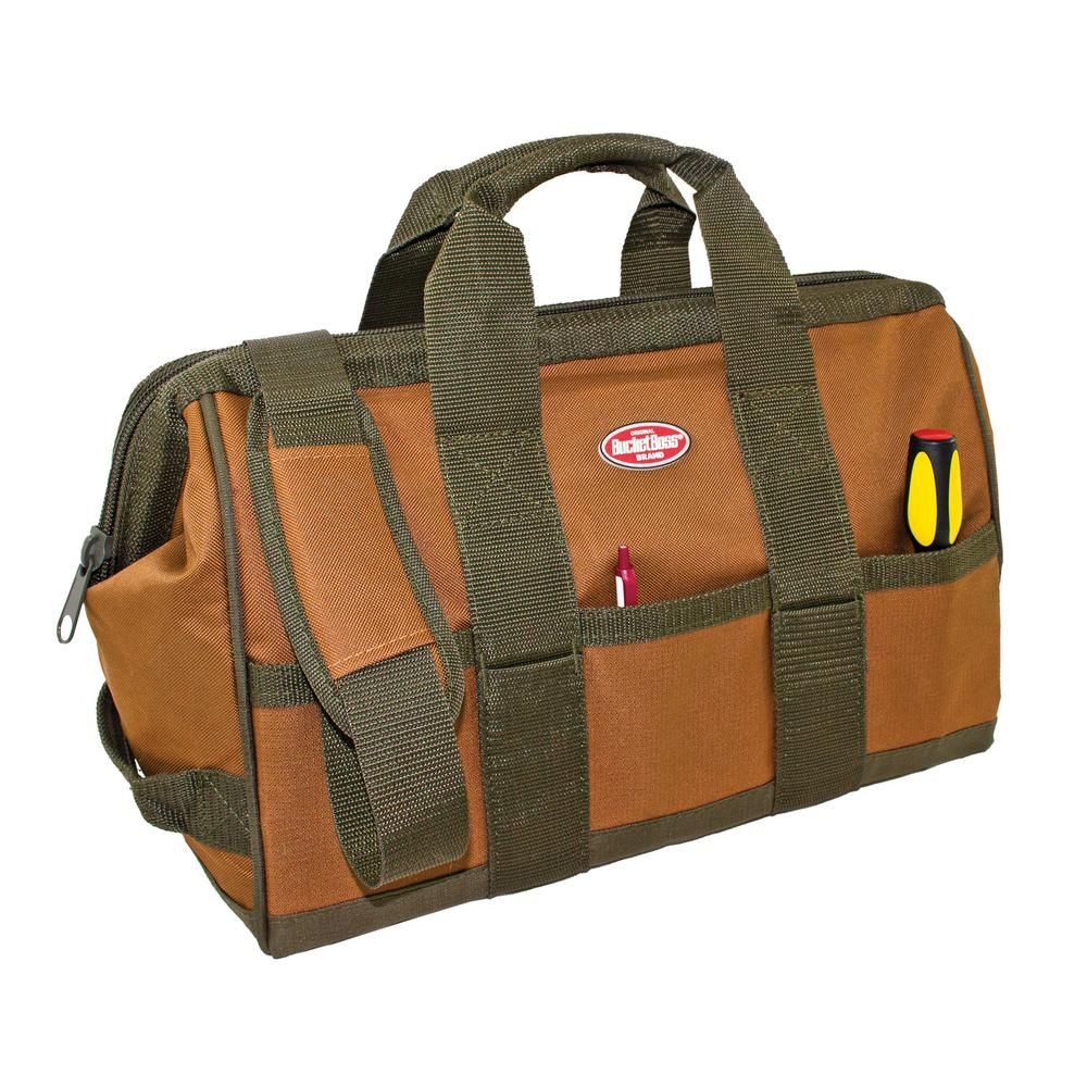 Bucket Boss Gatemouth 16 in. Tool Bag-60016 - The Home Depot