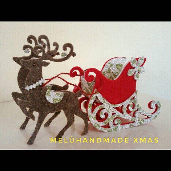 Immagini Slitta Di Babbo Natale.Slitta Di Babbo Natale Di Meluhandmade Su Etsy Simple Christmas Cards Felt Christmas Christmas Crafts