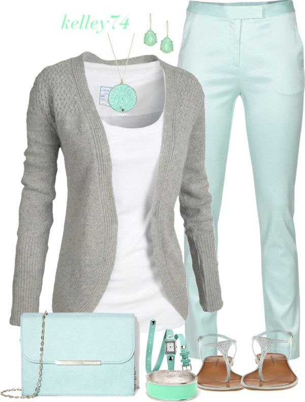 spring fashion for women - mint pants