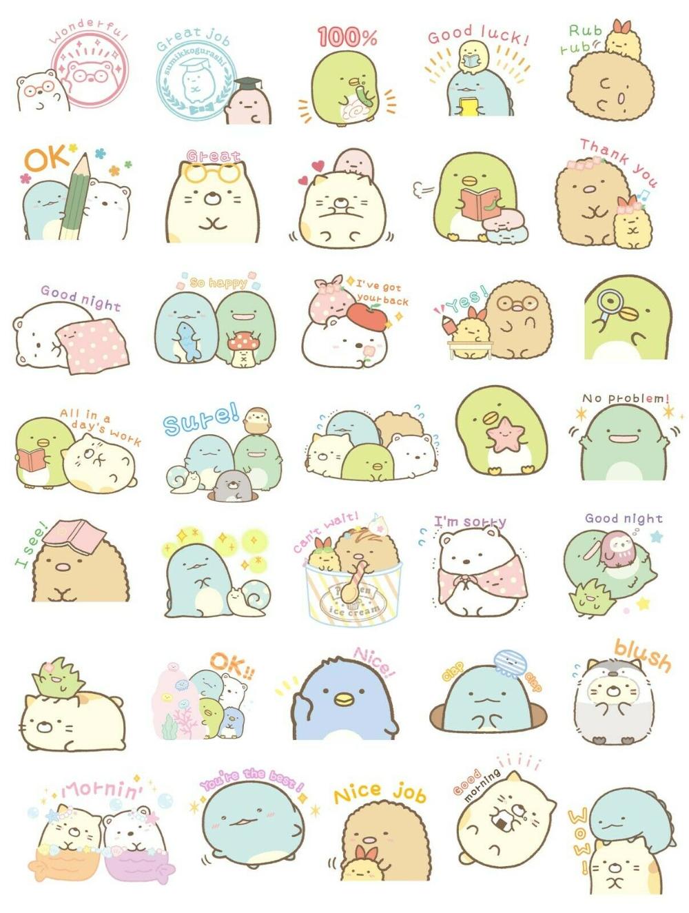 35 Cute Sumikko Gurashi Stickers Journal Stickers Kawaii Stickers Usa Ebay Journal Stickers Kawaii Stickers Stickers