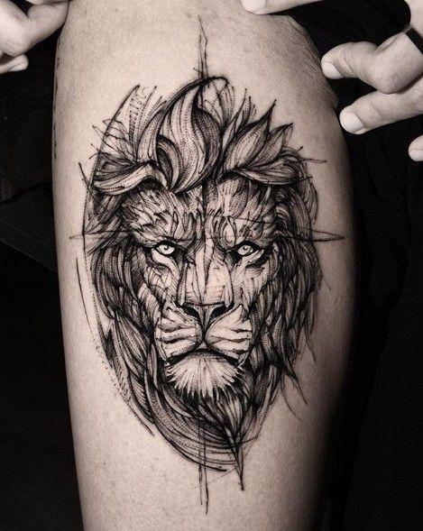 22 Leo Zodiac Tattoo Ideas For Men And Women Lion Tattoos For Leo Zodiac Signs Tatuagem Tatuagem Masculina Lion Tatuagem