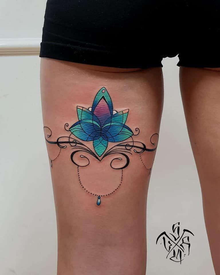 Leg Mandala By Mihaly Vaida Aka Skin Reaper Tattoos Watercolor
