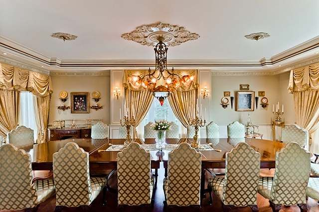 Room · Inspirational Celebrity Dining Rooms Interior Design : Extravagant  Celebrity Dining Rooms Luxury Chandelier Classic Interior