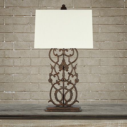 Fielding table lamp in rust