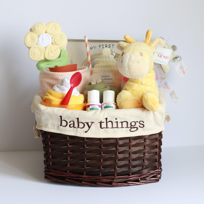 Gender Neutral Baby Gift Basket, Baby Shower Gift, Unique