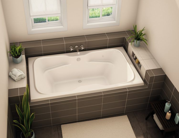 20 Bathrooms With Beautiful Drop In Tub Designs | Bathtub surround ...