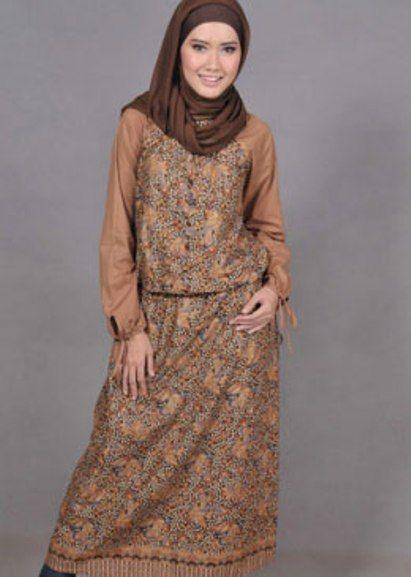 Model Gamis Batik Remaja Kekinian Busana Muslim Batik Dress