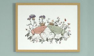Image of Kissing Frogs Print | 60