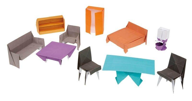 mini origami furniture httpwwwikuzoorigamicommini
