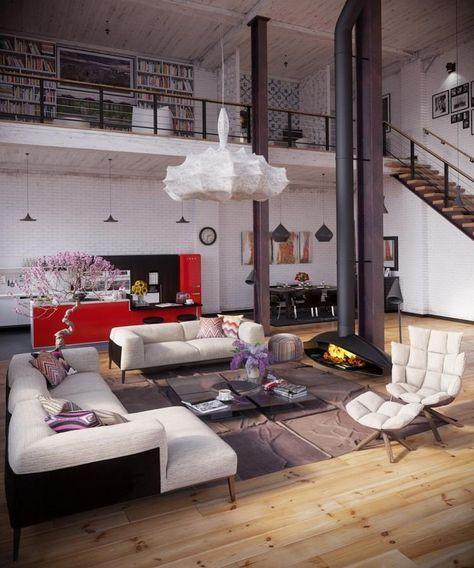 schöne Loft Wohnung im Industriestil   Wohnung   Pinterest   Loft ...