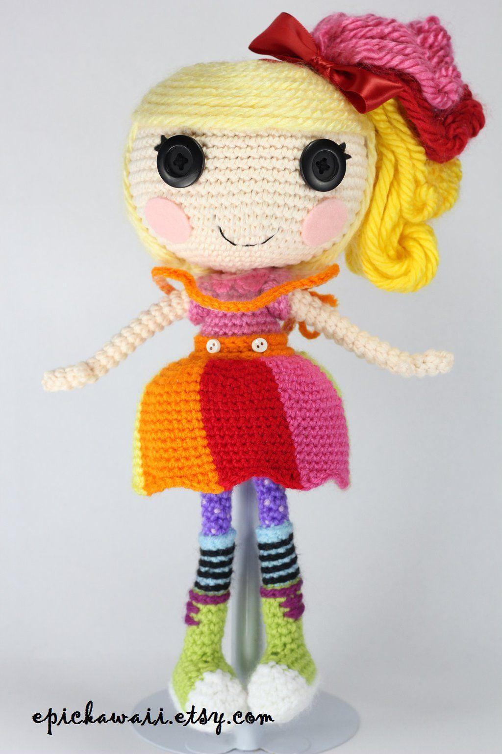 Amigurumi Crochet Lalaloopsy Doll Blue Model Free Pattern ... | 1536x1024