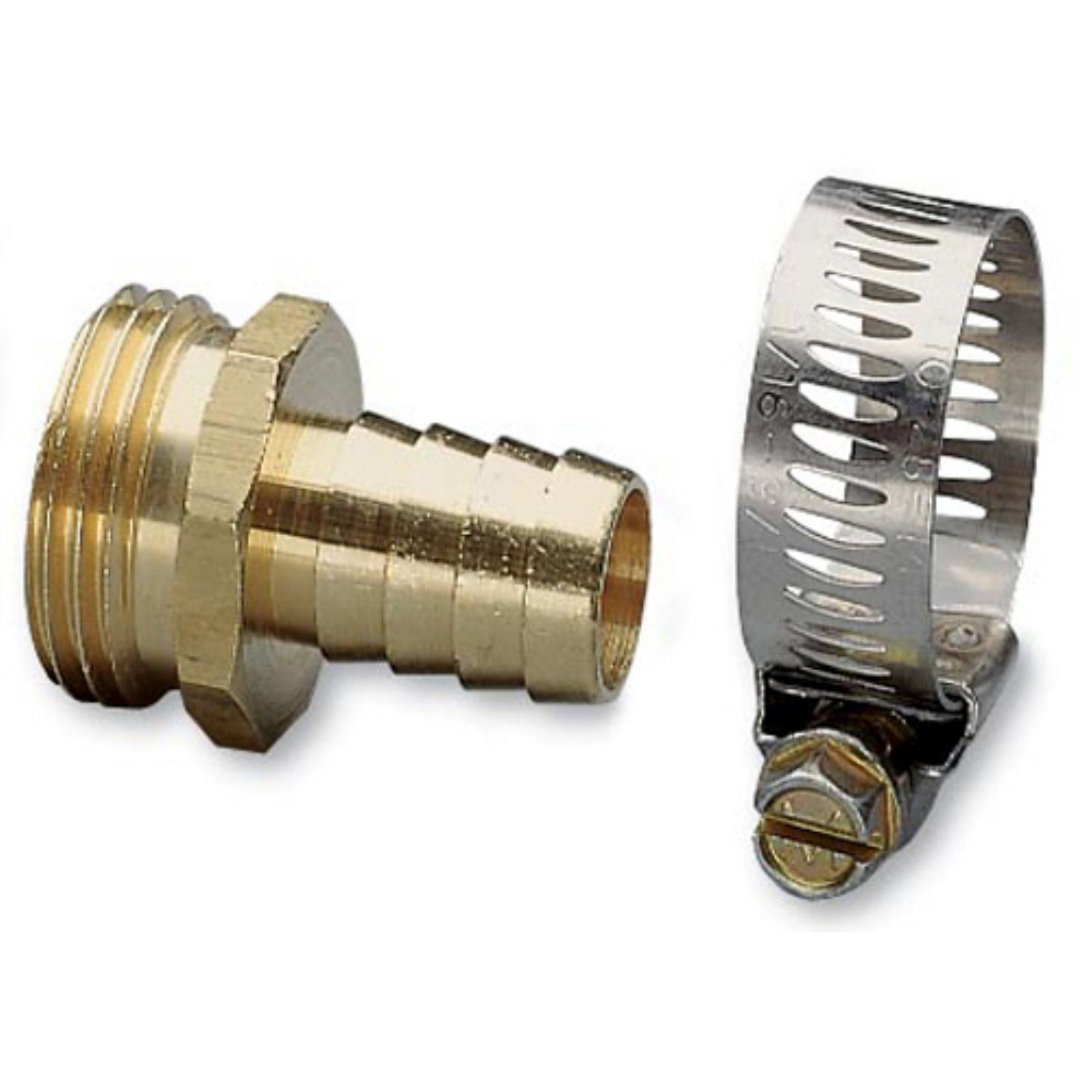 Nelson 50453 Brass And Worm Gear Clamp Male Hose Repair