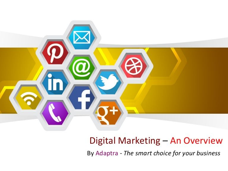 Digital Marketing Overview Adaptra Powerpoint Template Free Ppt Template Social Media Marketing Services