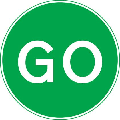 Manually operated temporary STOP and GO signs | SIGNS ...