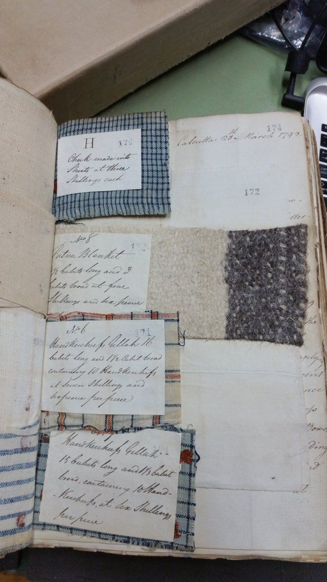 """Tim Causer on Twitter: """"Samples of cloth from 1792 for making clothes, handkerchiefs, and blankets for convicts transported to NSW (CO201 series @UkNatArchives) https://t.co/J1x3jWoig3"""""""