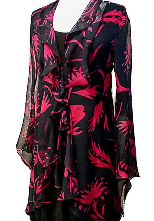 Flutter Jacket - Black/Red Matisse