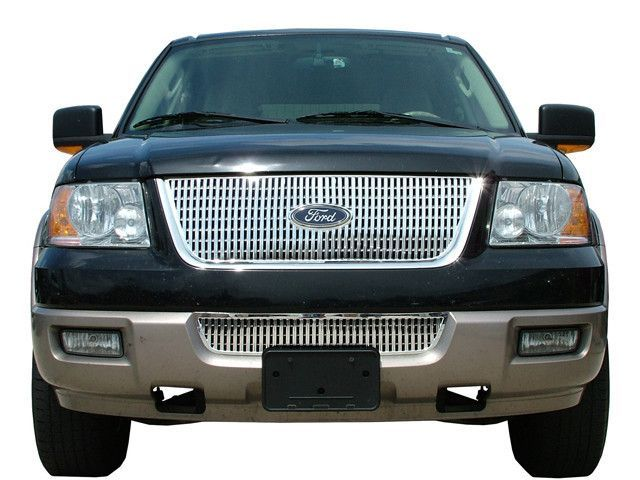 Expedition 2003 2006 Ford Stainless Billet Grille 1pc Upper Portion Only Sgb43383