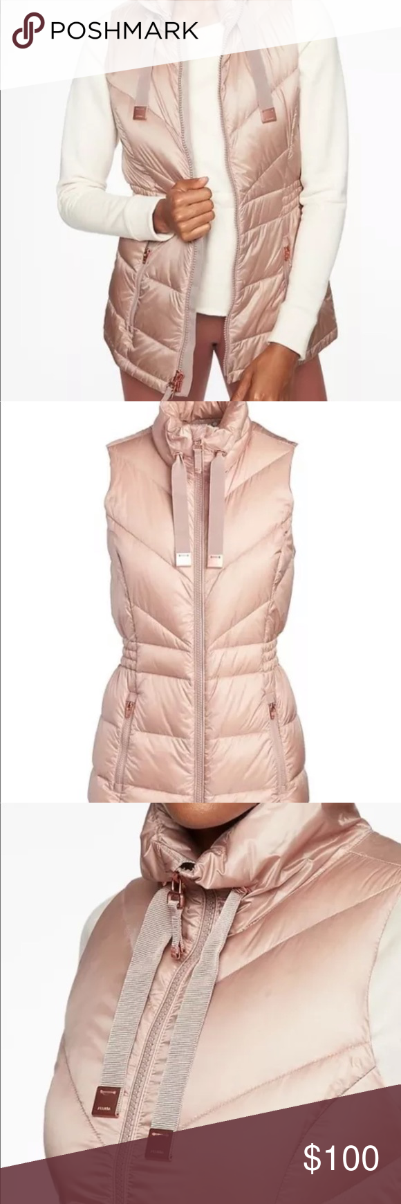 192d79375ec8 Athleta Down Peak Banner Vest XS in nouveau rose Athleta Banner Peak Down  Vest in nouveau rose...New with tag....retail  158 Zip pockets secure your  ...
