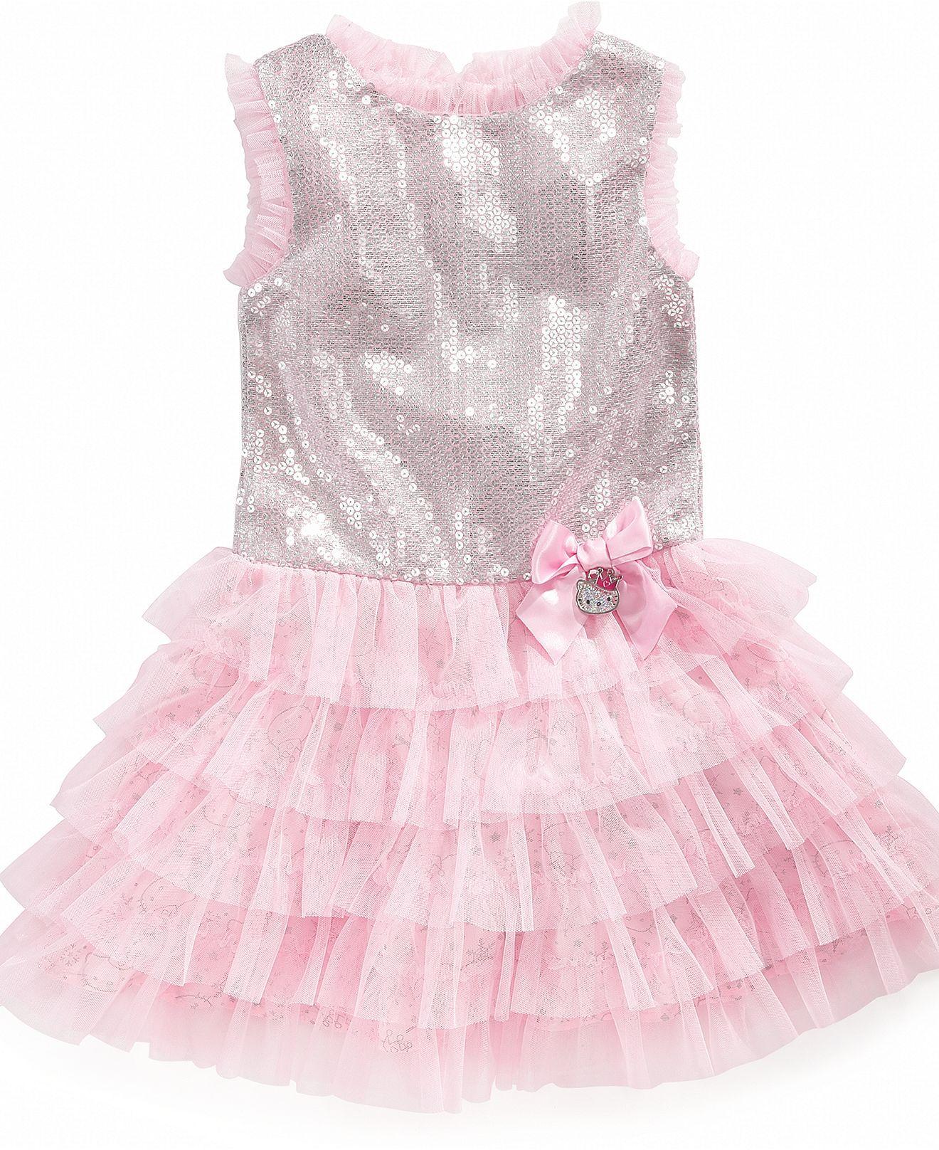Easter Dress Hello Kitty Kids Dress Little Girl Tiered