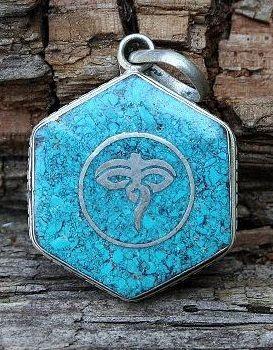 Nepalese Buddha's eye pendant - look4treasures on Etsy, $16.95