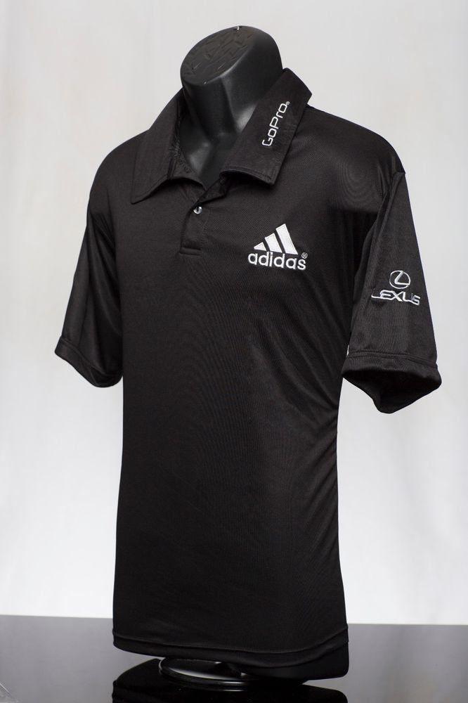 b45d078e Men's Large Black Golf Polo PGA sponsor logo Lexus, Adidas, Rolex  #Unbranded #PoloShirt