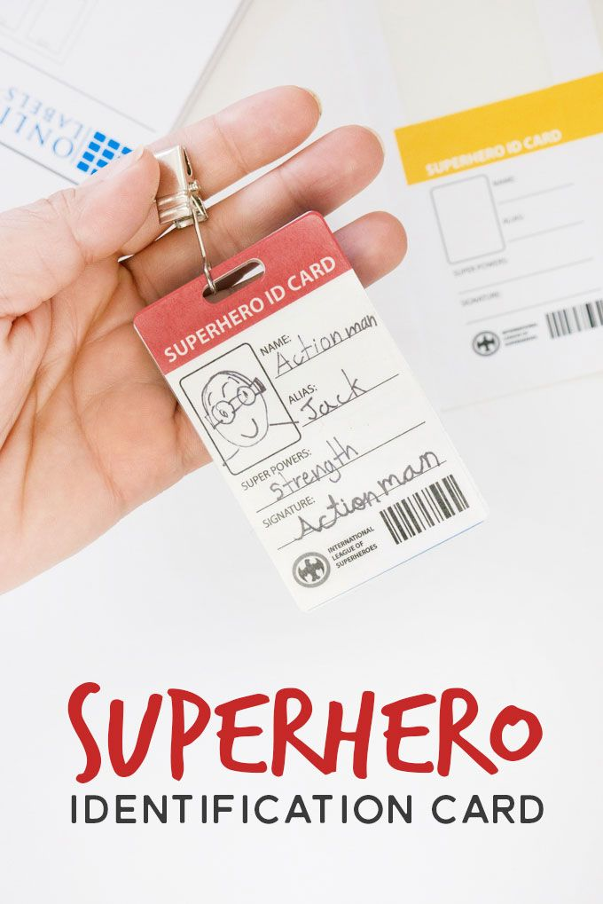 Superhero Identification Badges For Kids Superhero Kids Crafts Free Free Teacher Appreciation Printables