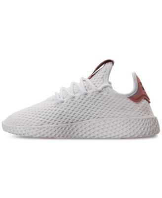 competitive price 800cc d9a7a adidas Girls  Originals Pharrell Williams Tennis Hu Casual Sneakers from Finish  Line - WHITE PINK 5.5