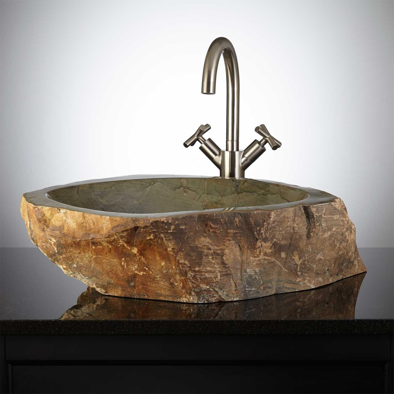 Danilova Natural Stone Vessel Sink Bathroom Sinks Bathroom In