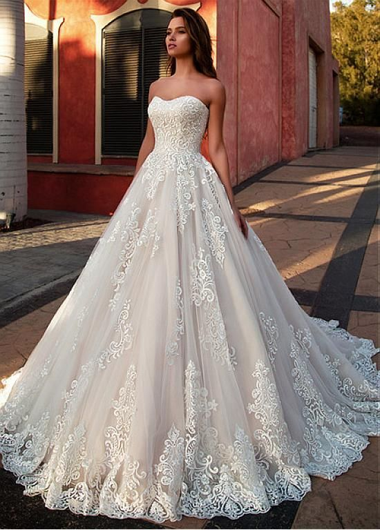 Photo of [284.40] Marvelous Tulle Sweetheart Neckline A-line Wedding …