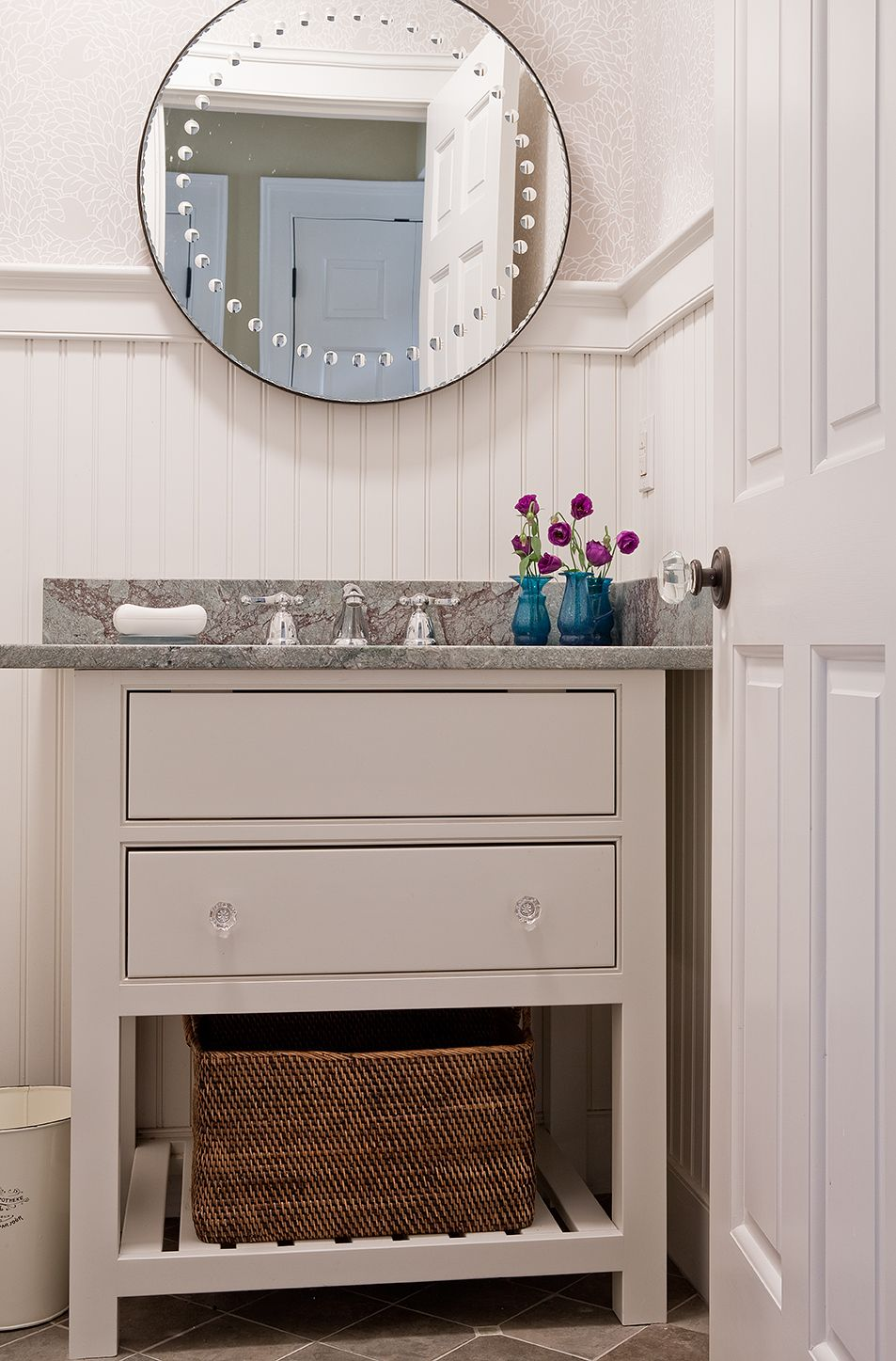 Bathroom Pretty Amp Practical Powder Room With Minimalist