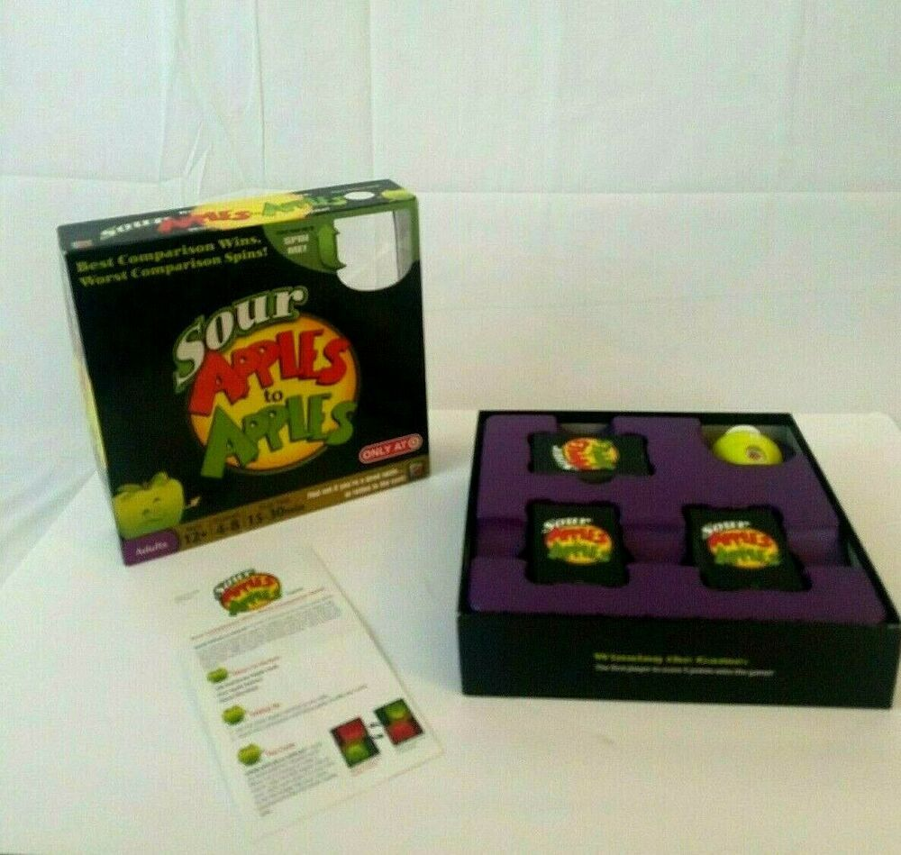 Sour Apples To Apples Adult Party Board Game Mattel 2010 Complete Game Target Mattel Board Games Board Game Party Party Card Games