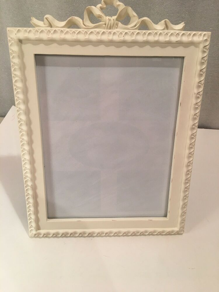 Fetco Picture Frame Free Standing Or Hanging 8x10 Scallop W Bow