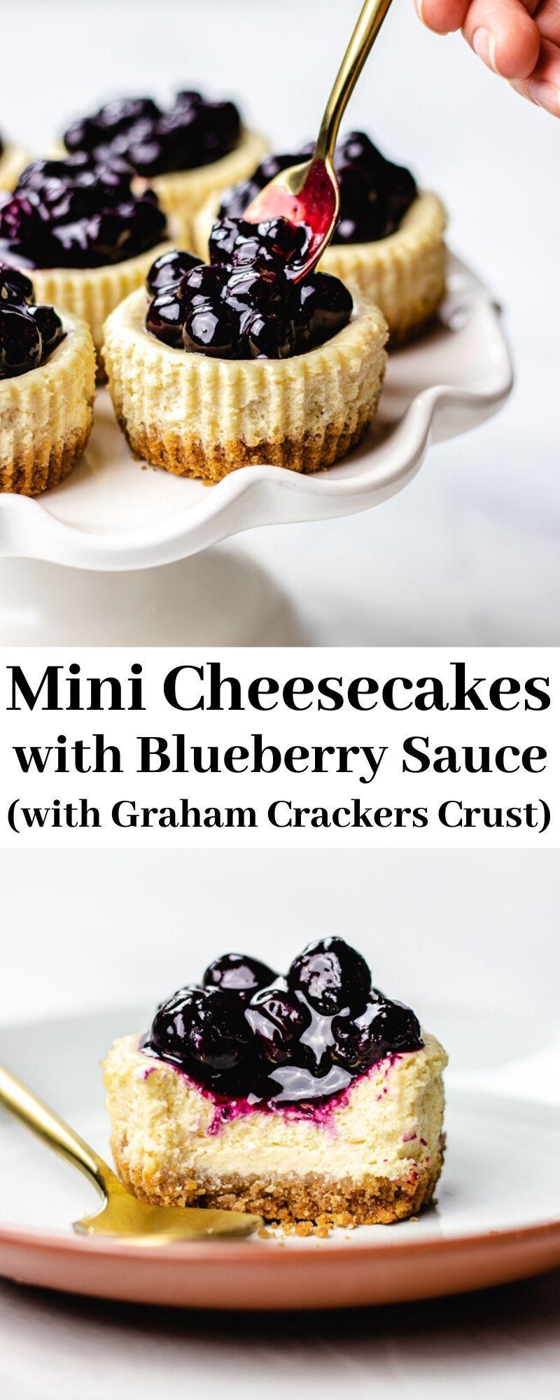 Gluten Free Mini Cheesecakes With Blueberry Sauce Veronika S Kitchen Recipe In 2020 Mini Dessert Recipes Mini Cheesecakes Baking Recipes