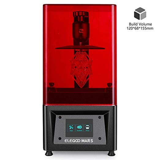 Elegoo Mars Uv Photocuring Lcd 3d Printer With 3 5 Smart Touch Color Screen Off Line Print 4 72 L X 2 68 W X 6 1 3d Printer Printer 3d Printing Industry