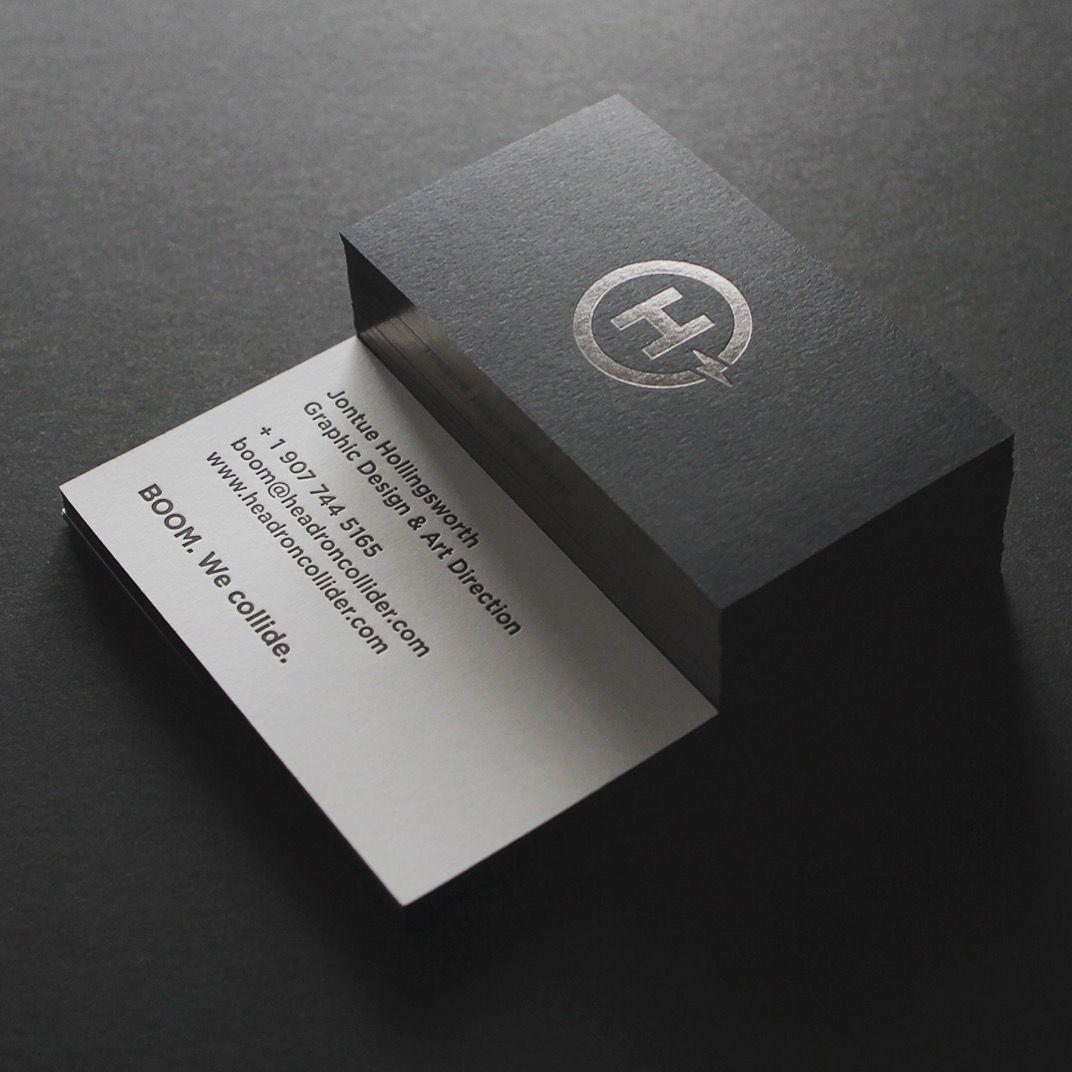 Business card for graphic designer. Duplex, letterpress, foil stamp ...