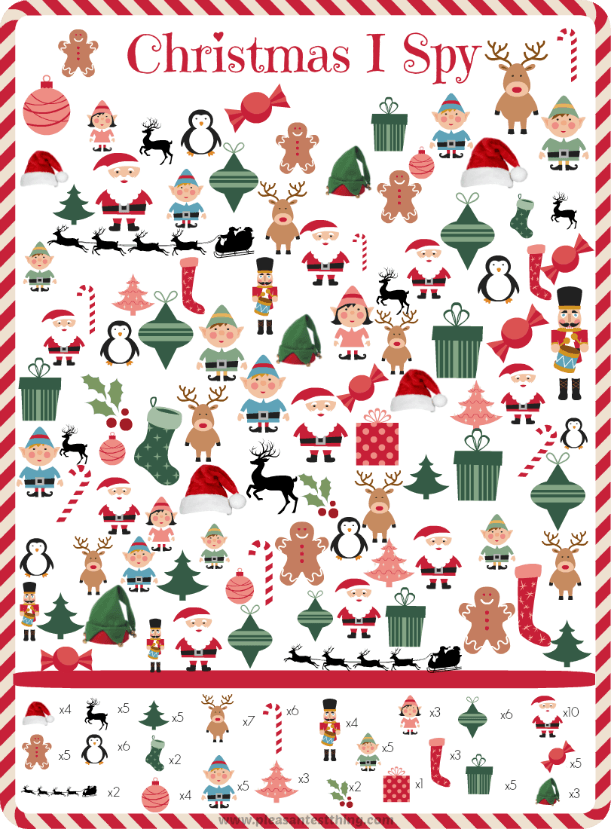 Free printable Christmas I Spy Game - a search and find game for the ...