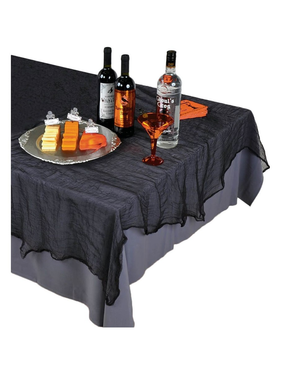 Black Cheesecloth Table Cover (Each) Halloween party