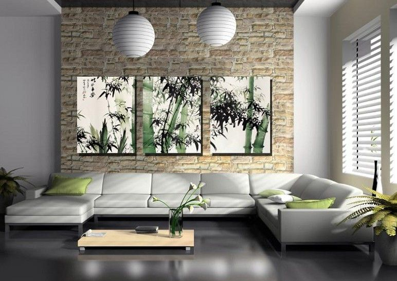 3 Panel Modern Wall Painting For the Home Pinterest Modern