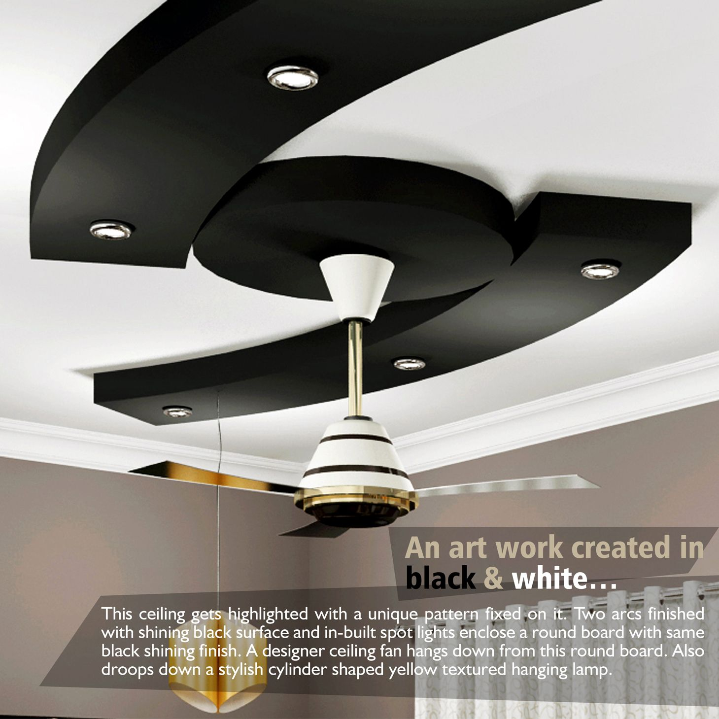 Bedroom Ceiling False DesignDesigns Black And White vYfyb76g