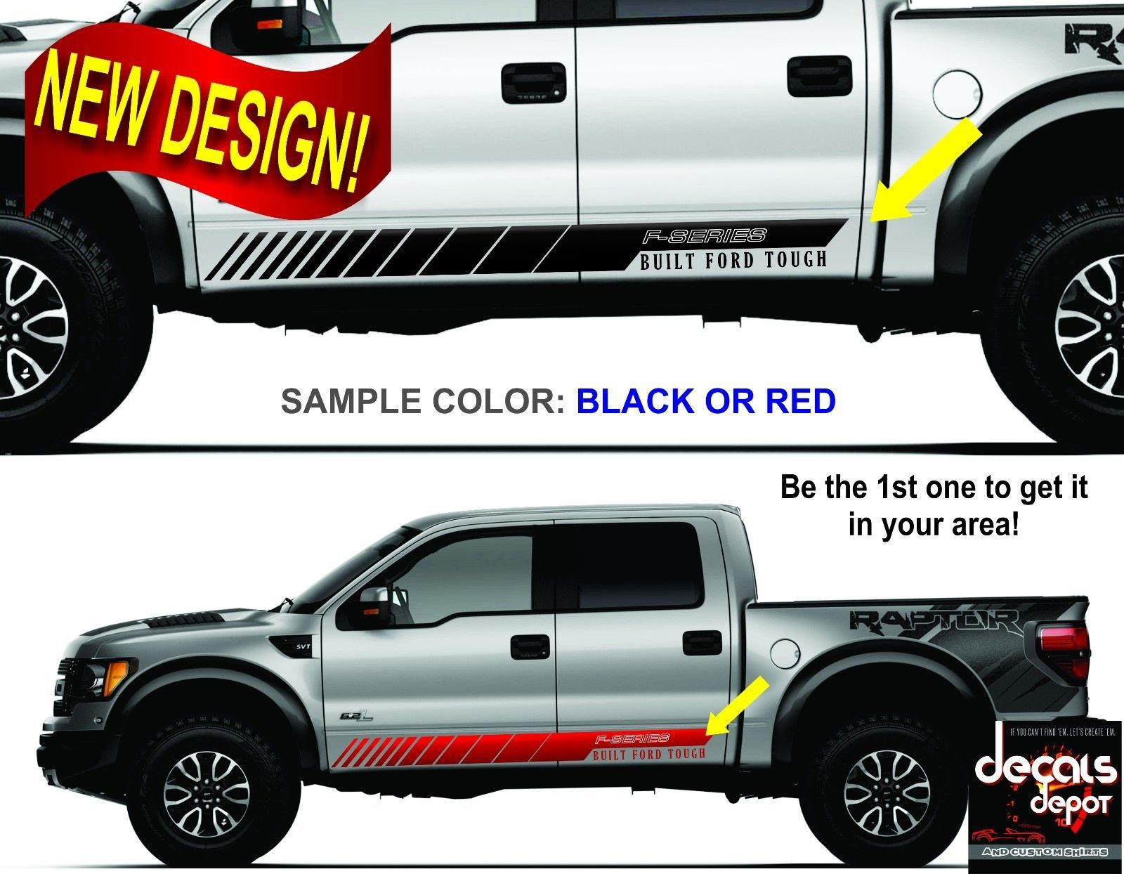Ford F 150 250 Hd Xl Xlt Sxt Platinum King Ranch Crew Cab Vinyl Decal Stripes Ebay Ford F150 Built Ford Tough Crew Cab