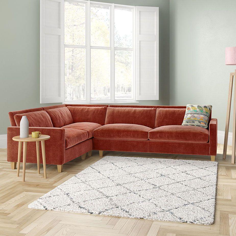 Chester Mid Tan Leather Right Arm Corner Sofa In 2020 Corner Sofa Corner Sofa Living Room Sofa