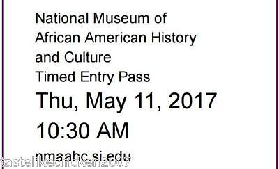 National Museum of African American History & Culture Ticket THUR 5/11/17 https://t.co/Iq5hA6KlSi https://t.co/cEbYaZxifo