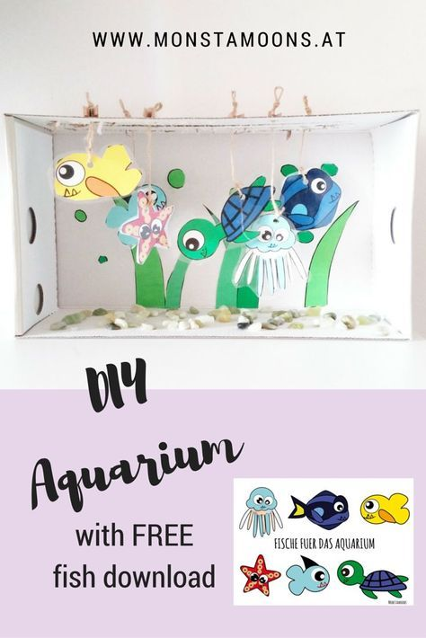 Bastel Aquarium mit Freebie, Aquarium, fish craft with freebie